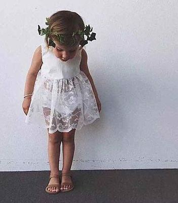 ins children's clothing baby girl lace dress + shorts suit summer infant lace princess dress two sets