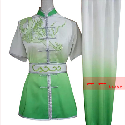 Martial Arts Clothes  Kungfu clothes Short-sleeved Wushu Clothes, Men and Women Embroidery Dragon Gradual Change Performance Clothes, Children Gongfu Clothes, Long Boxing Clothes, Performance Clothes and Practice Gongfu Clothes