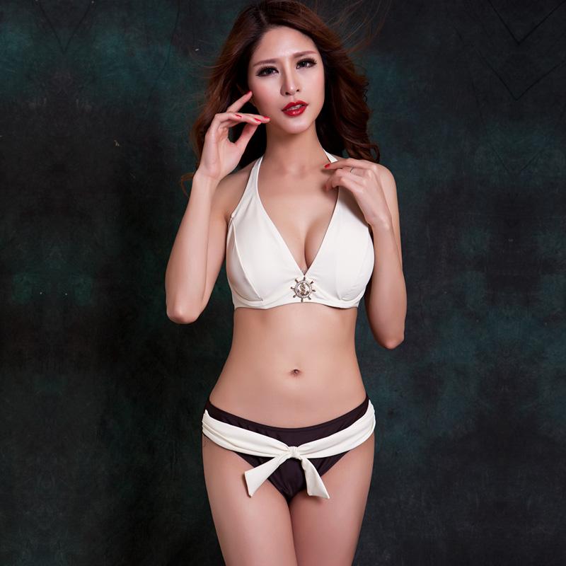 f410cba796 Plus size fat mm bikini big chest gather big cup C D E F sexy hot spring  swimsuit female swimsuit female