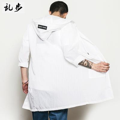 Mùa hè Nhật Bản vài mặt trời quần áo bảo hộ lỏng áo gió nam Hàn Quốc phiên bản của mỏng phần dài trùm đầu quần áo da của phụ nữ áo khoác thủy triều Áo gió