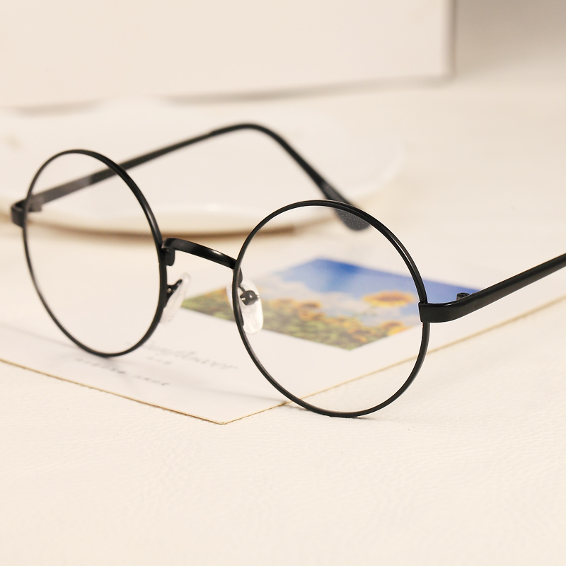651a8015fdd South Korea Harajuku round glasses frame ultra - light retro men and women  fine frame metal