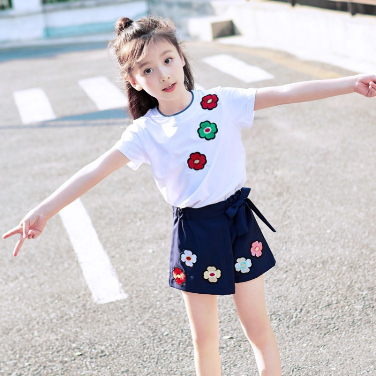 109ad9d1f USD 34.74  Girls summer dress 2019 new fashion suit Korean style ...