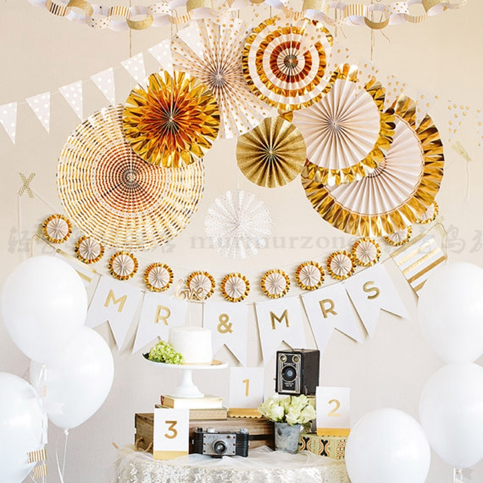 graduation ceremonial decorations birthday decorations hanging ornaments shopping window wedding wedding room wedding paper fan flower