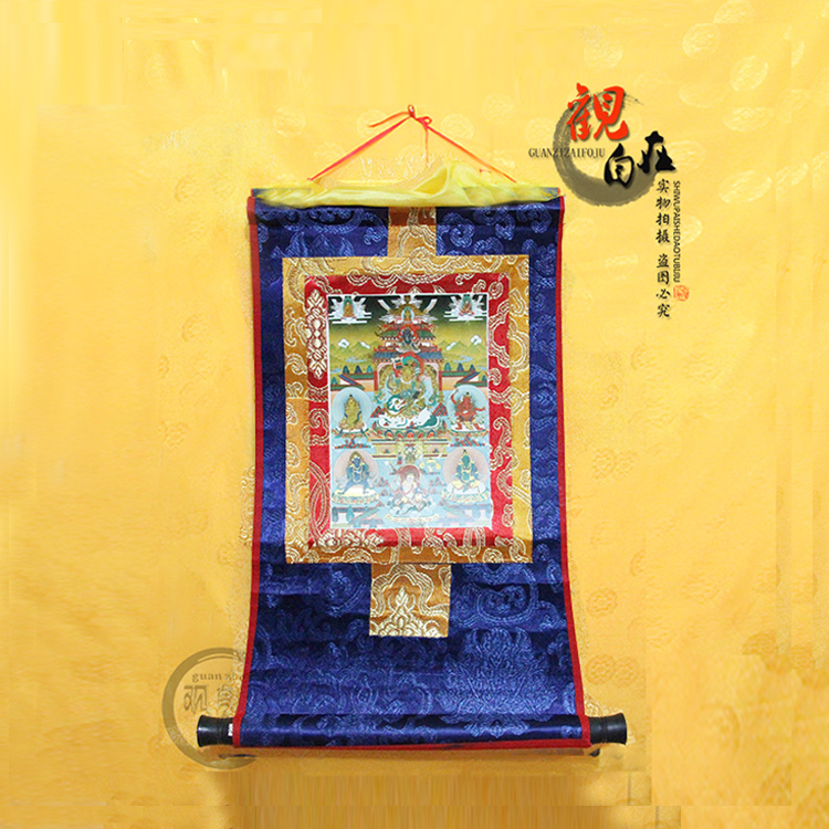 Usd 6 47 Five Names Of The God Of Wealth Tibetan Tangka Trumpet