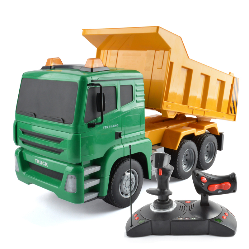 Fire fighting fire truck toy crane model dump truck mixing large remote  control engineering car charging children's gift