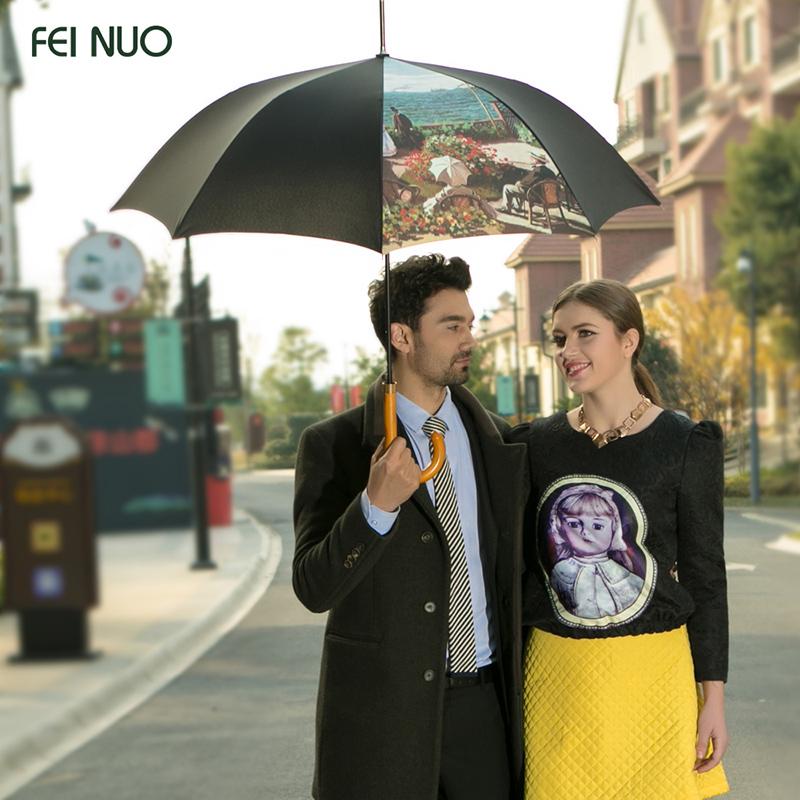 创意折叠油画黑胶太阳伞超强防晒50防紫外线晴雨伞三折遮阳伞男女