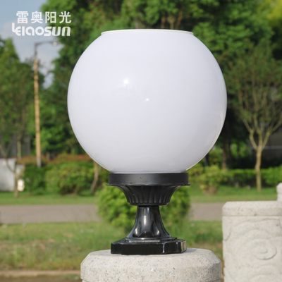 Modern minimalist landscape outdoor solar lamp engineering waterproof fence villa garden lamp round pillar lamp