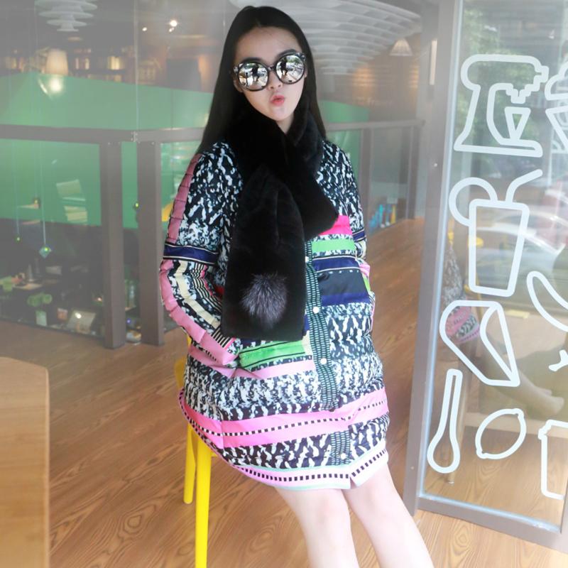韩国2015冬装休闲女中长款加厚连帽羽绒棉棉服大码外套面包服棉衣