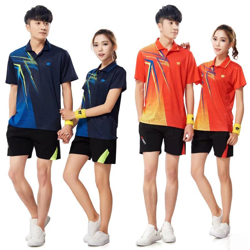 乒乓球服套装男速干短袖运动服装比赛训练队服定制羽毛球衣服女款