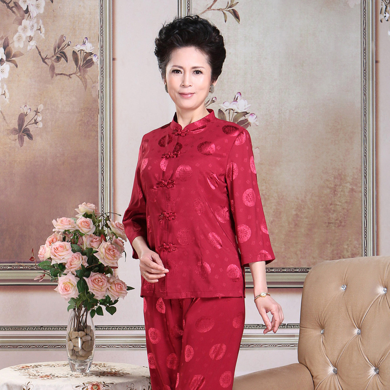 Usd 81 09 Chinese Style Middle Aged Tang Dress Female Summer Suit