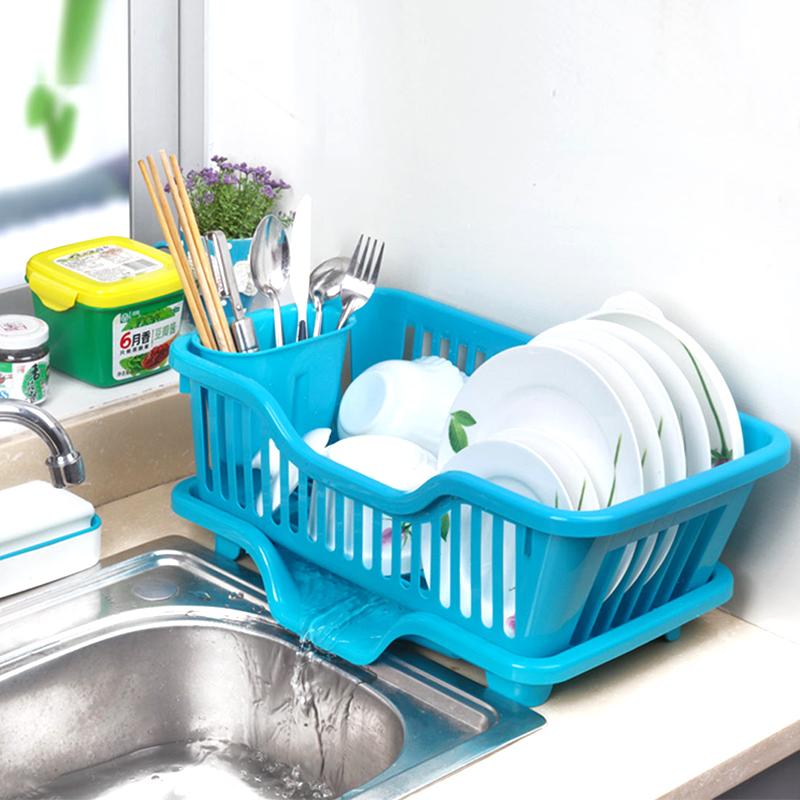 餐具大号塑料厨房沥水架水槽旁收纳篮碗碟沥水置物架厨房角架碗架