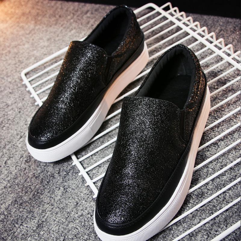 【天天特价】经典黑白帆布鞋乐福懒人潮鞋一脚蹬女夏学生情侣单鞋