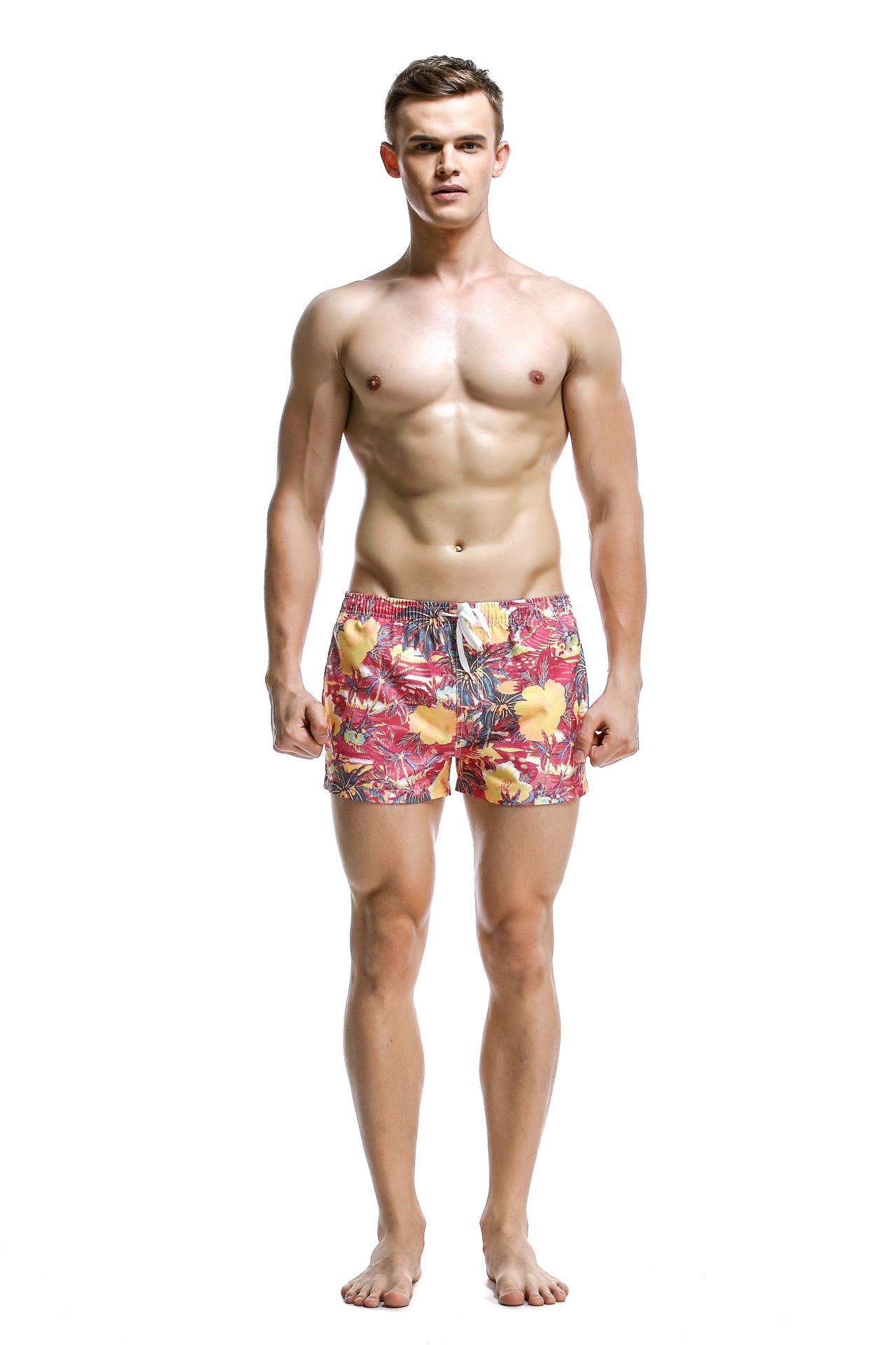 SEOBEAN希宾短裤沙滩裤男士时尚潮男四角性感v短裤裤
