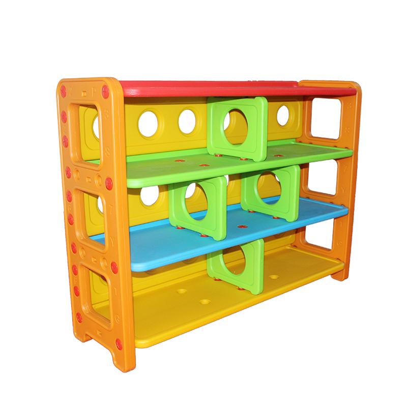 outlet store 8a392 8ad1e Children's bookshelf kindergarten shelf plastic toy rack kindergarten  storage rack children's bookshelf