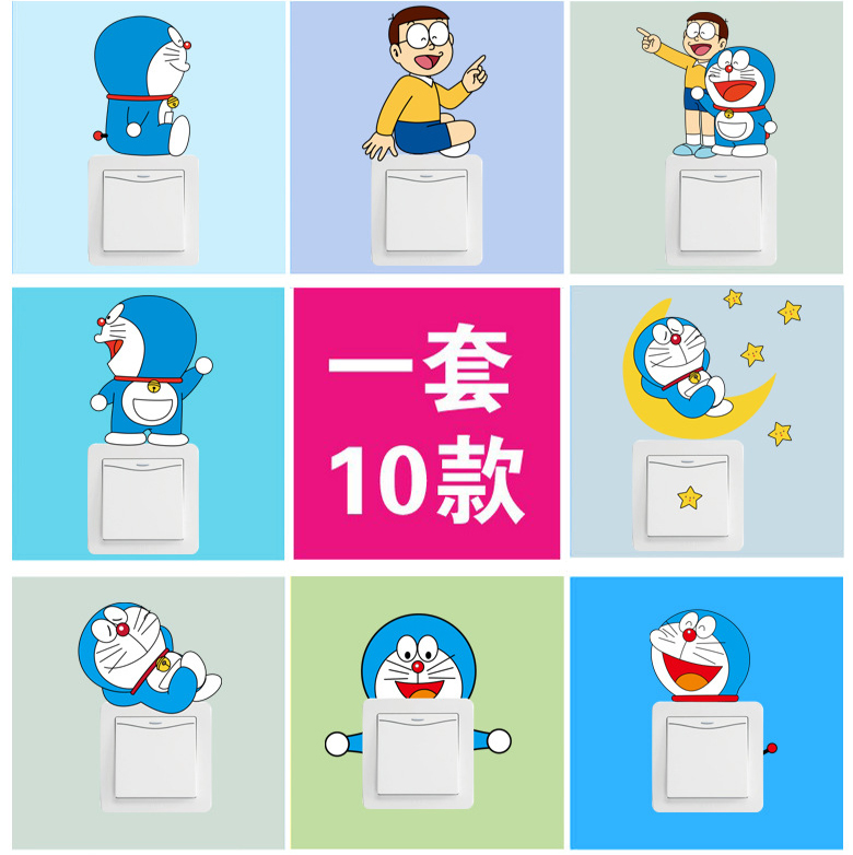 Usd 781 Cartoon Creative Heart Stickers Light Switch Stickers - Vinyl-decals-to-decorate-light-switches-and-outlets