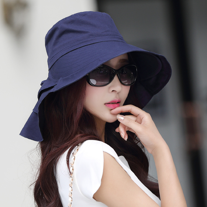 896e522a1b9 Hat female spring and autumn Korean version of the wild sun hat summer UV  folding sun