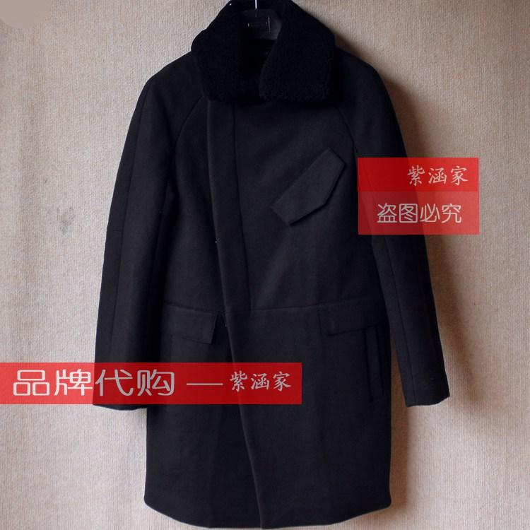 太平鸟男装专柜正品15年冬款呢料大衣B2AA54404 原价2680