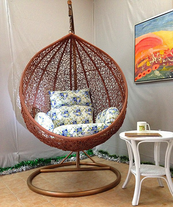 Outdoor Swing Chair Hanging Chair Indoor Balcony Hanging Basket Wicker Chair  Rocking Bird Nest Hanging Chair Cradle Seat Swing