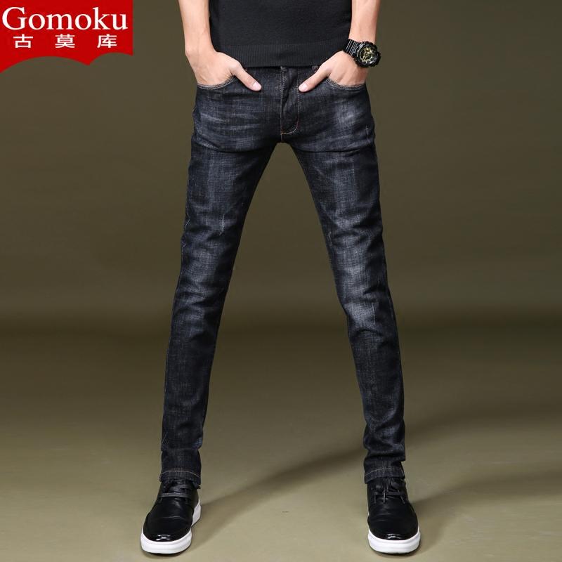薄款裤子牛仔裤青年小脚裤流长型韩版高男生男裤夏休闲潮修身弹力