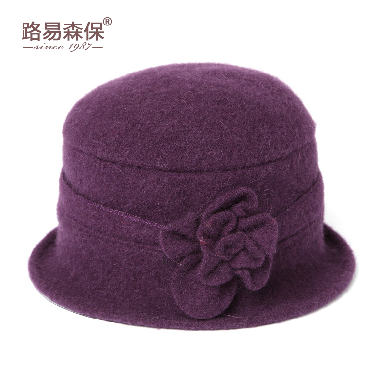 f990aaf74c4 Hat female autumn and winter Basin hat fisherman hat grandma hat wool cap  middle-aged