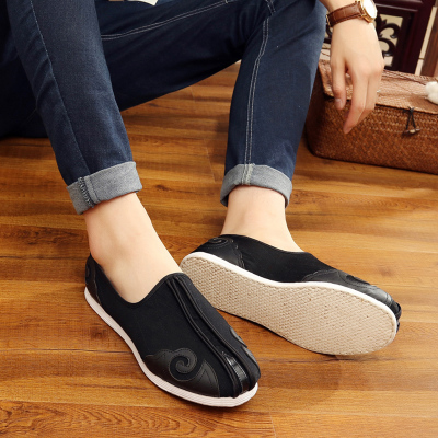 Chinese Tai Chi Kung Fu Shoes  Beijing Cloth Shoes Men Chinese Style Handmade Thousand Layer Bottom Shoes