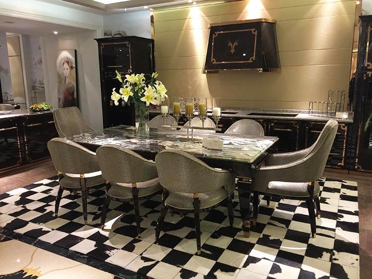 Итальянский стиль поколение Dinette свет роскошный обеденный стол завтрак стол винный шкаф мрамор обеденный стол и стул комбинированный ресторан