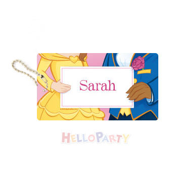 New bag pendant name anti-lost party gift Princess and Prince luggage tag