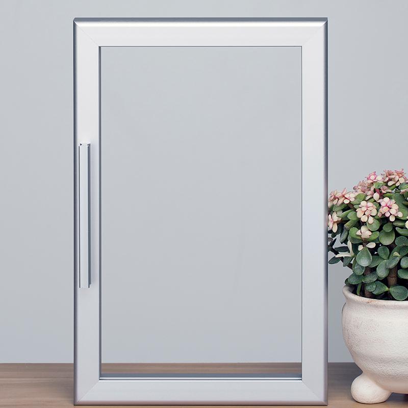 Aluminum Frame Glass Door Bookcase Cabinet Custom