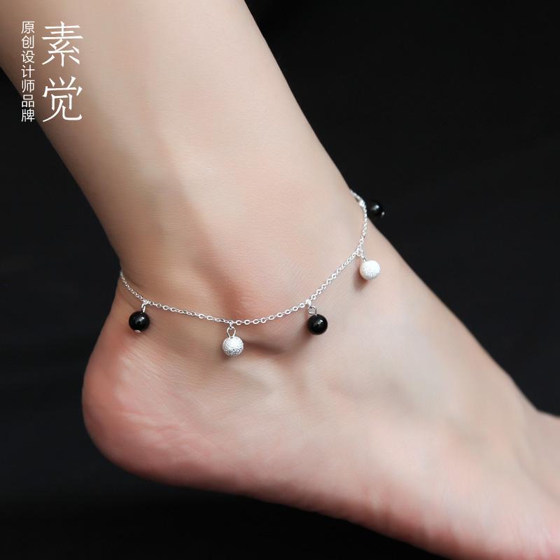 Sujue gốc 925 handmade bạc vòng chân dễ thương cô gái hoang dã feet jewelry new thời trang món quà sinh nhật