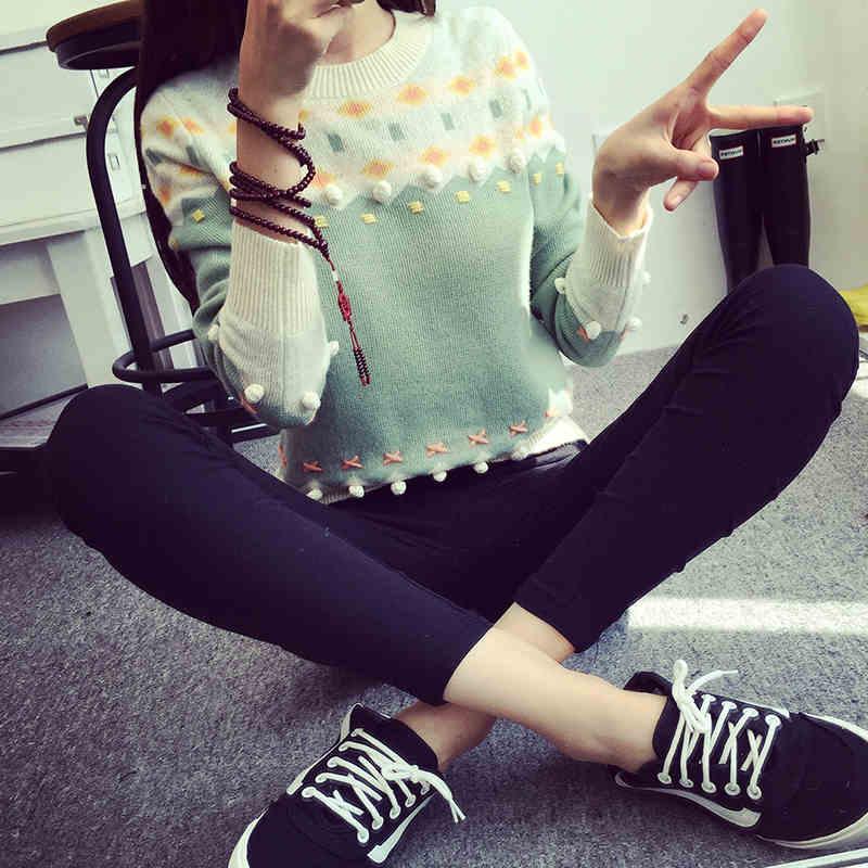 秋冬新款女装韩版大码上衣长袖时尚拼色打底小衫中长款百搭衣服潮