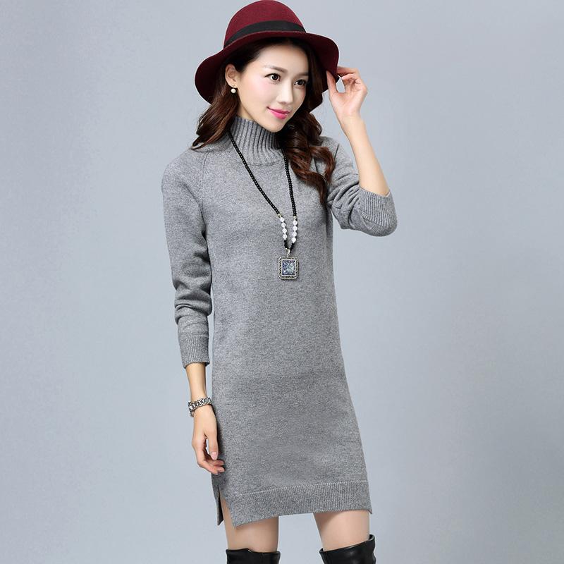 特价清仓女式貂绒衫貂绒毛衣高领坑条中长款短修身打底针织羊绒衫