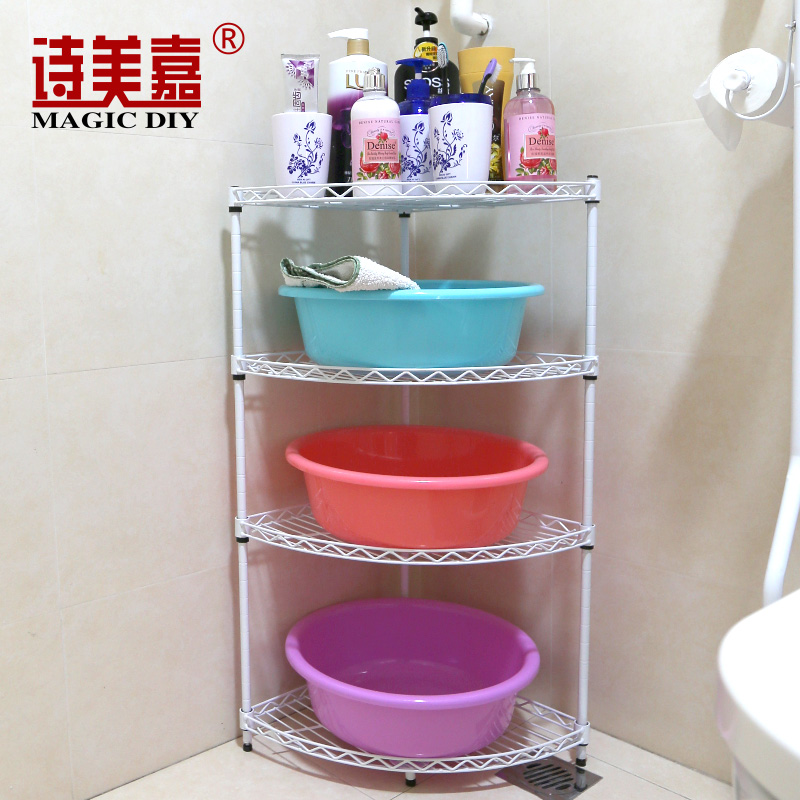 USD 34.48] Poem Meijia bathroom triangular shelf washbasin frame ...