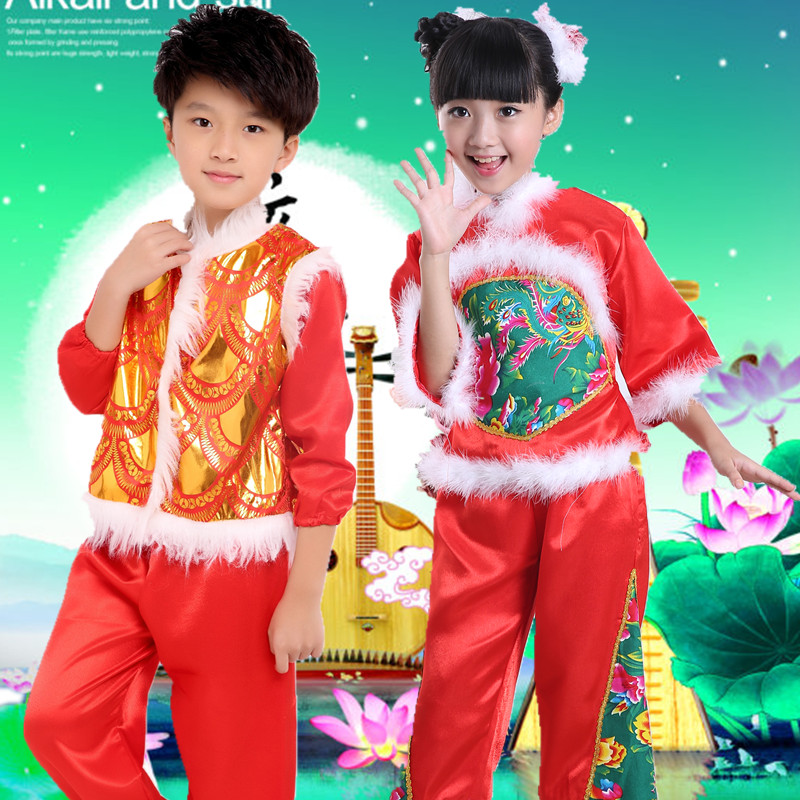 2015新款服秧歌服青花瓷民族风古典舞演出服广场舞舞蹈服扇子舞