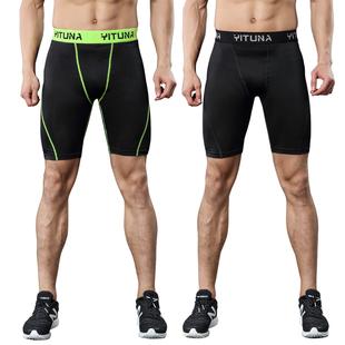 运动紧身短裤男夏季速干健身跑步短裤