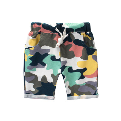 2017 summer new boy camouflage pants cotton Lycra Korean children's clothing children's shorts pants
