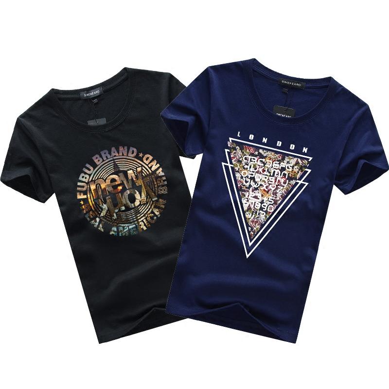 夏季短袖t恤男生纯棉圆领个性韩版大码百搭半袖体恤多款多色