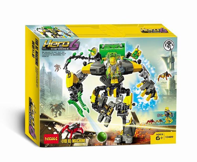 得高正品超级英雄工厂6.0 HERO6翼豪XL机益智式拼装积木玩具10489