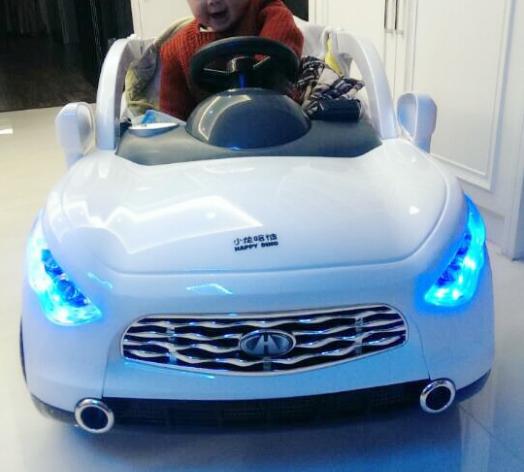 贝瑞佳双座路虎儿童电动车遥控小孩双人亲子玩具汽车童车可坐充气