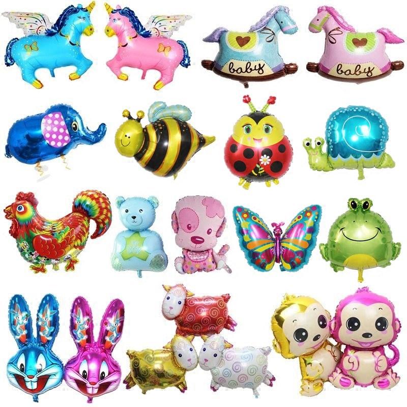 动物猴子生日铝膜卡通飞马青蛙小熊蜜蜂生日气球木马大象小狗儿童