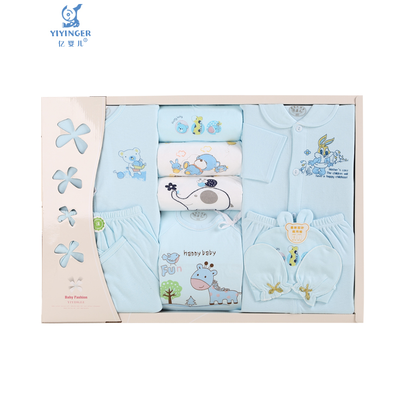 Million Baby Baby Gift Box 10 sets of pure cotton newborn clothing set 3116
