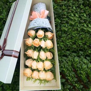 香槟玫瑰花广州番禺鲜花同城速递从化花店花都区增城顺德生日送花