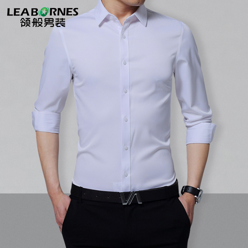 Usd collar like stretch non iron wrinkle resistant for Non wrinkle dress shirts