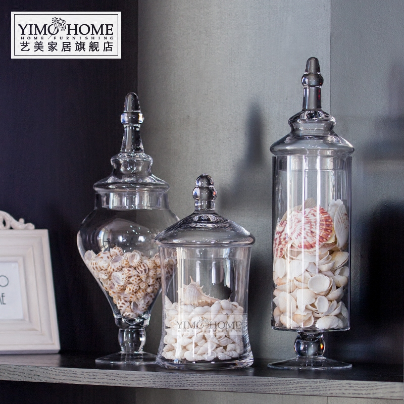 Large Decorative Glass Jars With Lids Amazing Usd 3396 European Glass Covered Tall Candy Jar Wedding Soft Inspiration