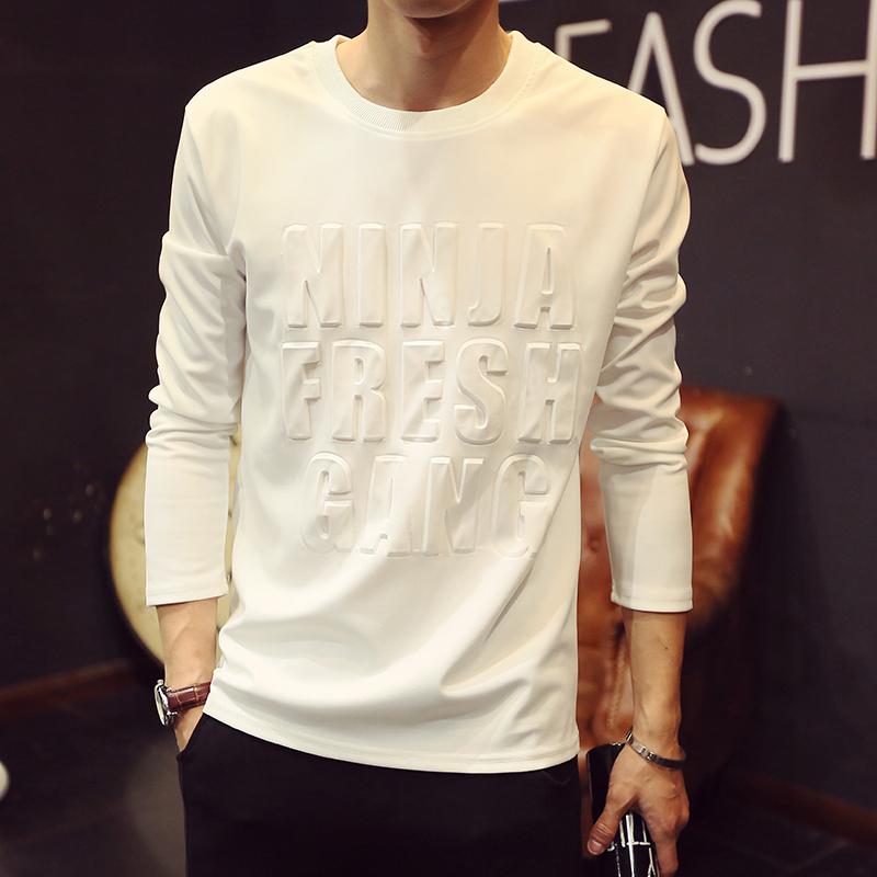 夏季条纹男士短袖T恤修身韩版立领POLO衫日系体恤潮流休闲打底衫