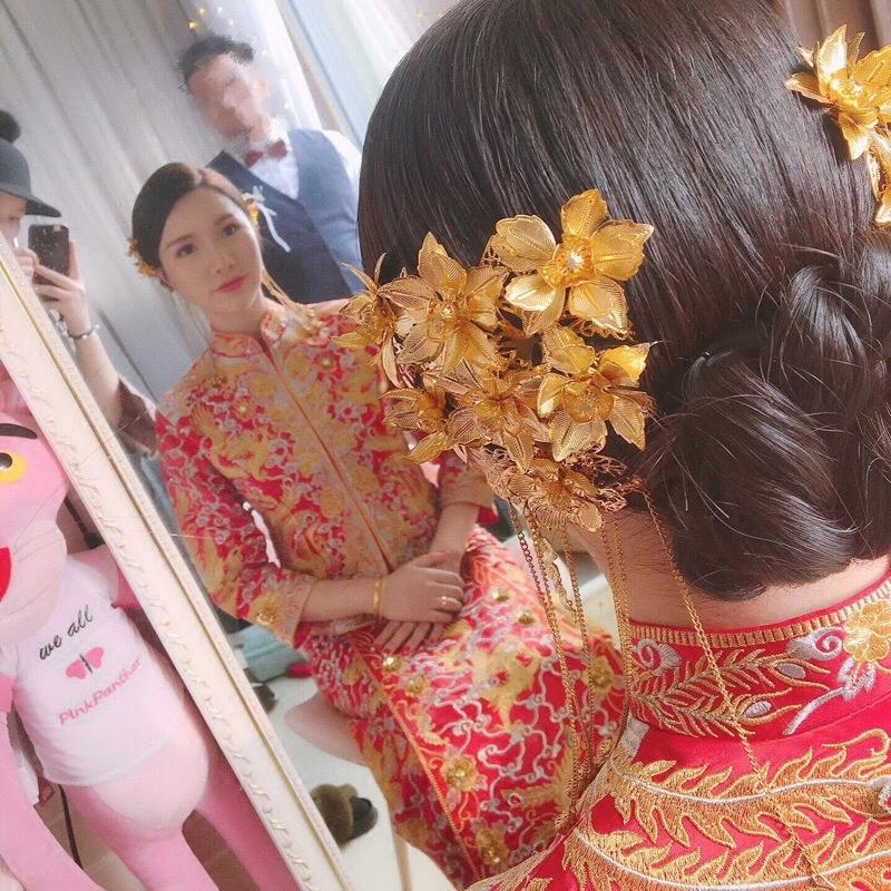 2018 новый новый мать древний новое оборудование мать головной убор китайский стиль выйти замуж аксессуары для волос красивый зерна одежда финикс корона закат накидка cheongsam аксессуары