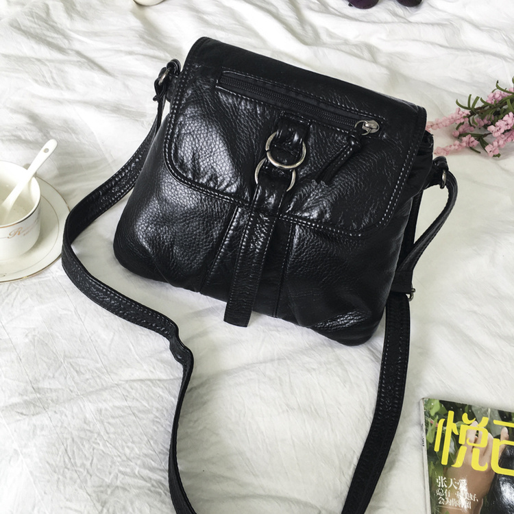 65bec9188544 Bag female 2019 New shoulder bag Korean soft leather casual messenger bag  simple wild backpack mini
