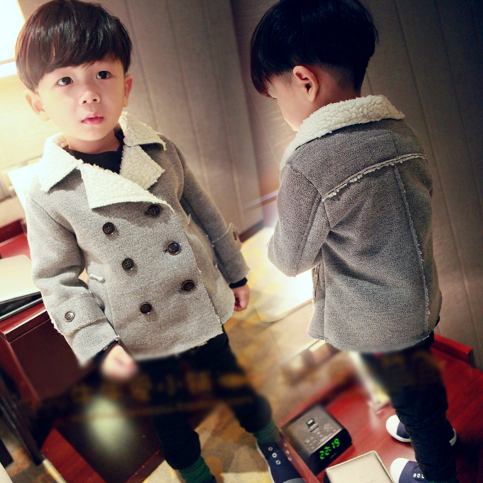 童装男童毛呢外套2015秋冬装新款儿童修身冬款加厚呢子大衣外套潮