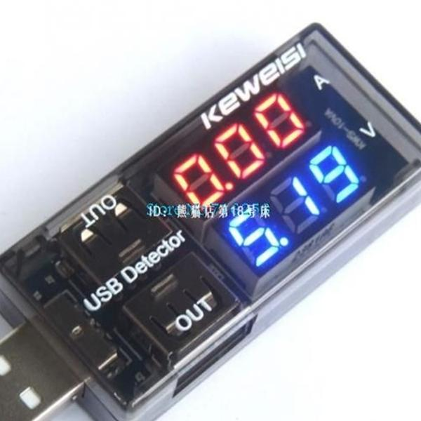 usb current voltage tester ammeter detector double row show