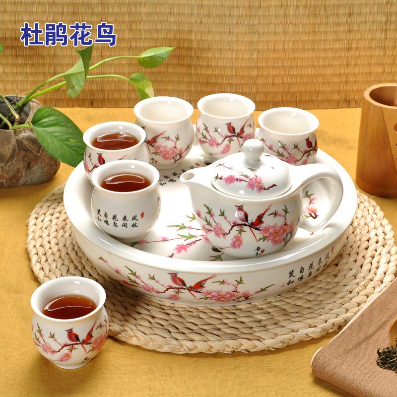 特价 整套景德镇陶瓷双层茶具套装青花瓷茶海茶盘功夫茶杯花茶壶