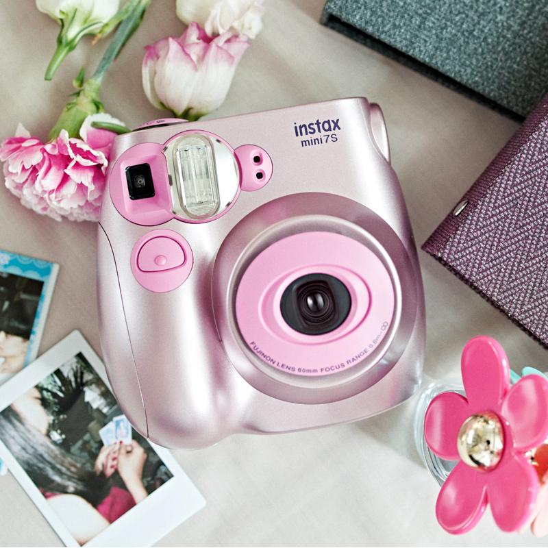 Fujifilm Fuji mini7S gói với giấy ảnh Polaroid một lần chụp ảnh camera hẹn giờ